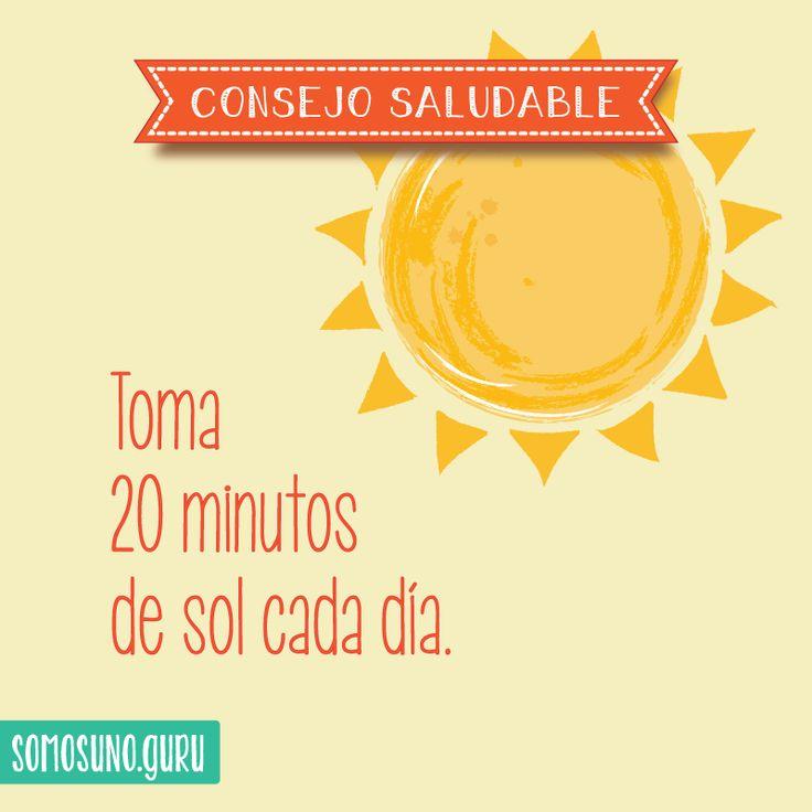 Consejo saludable: Toma 20 minutos de sol cada día