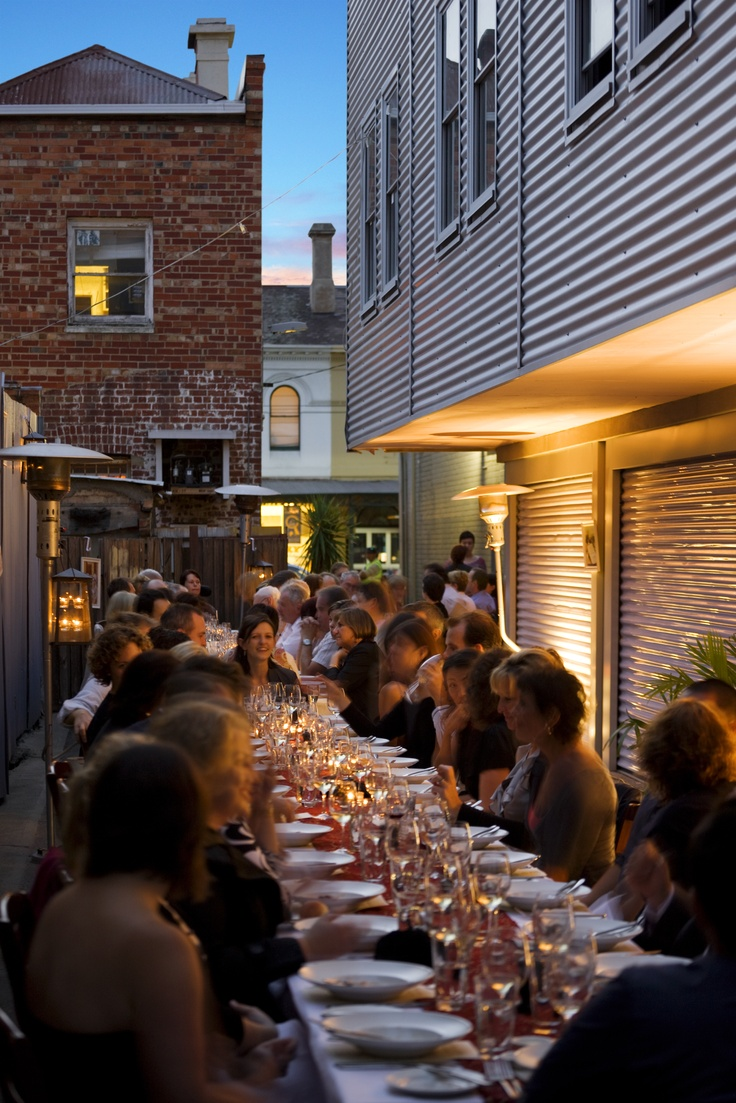 Laneway outside Libertine, North Melbourne at Melbourne Food and Wine Festival