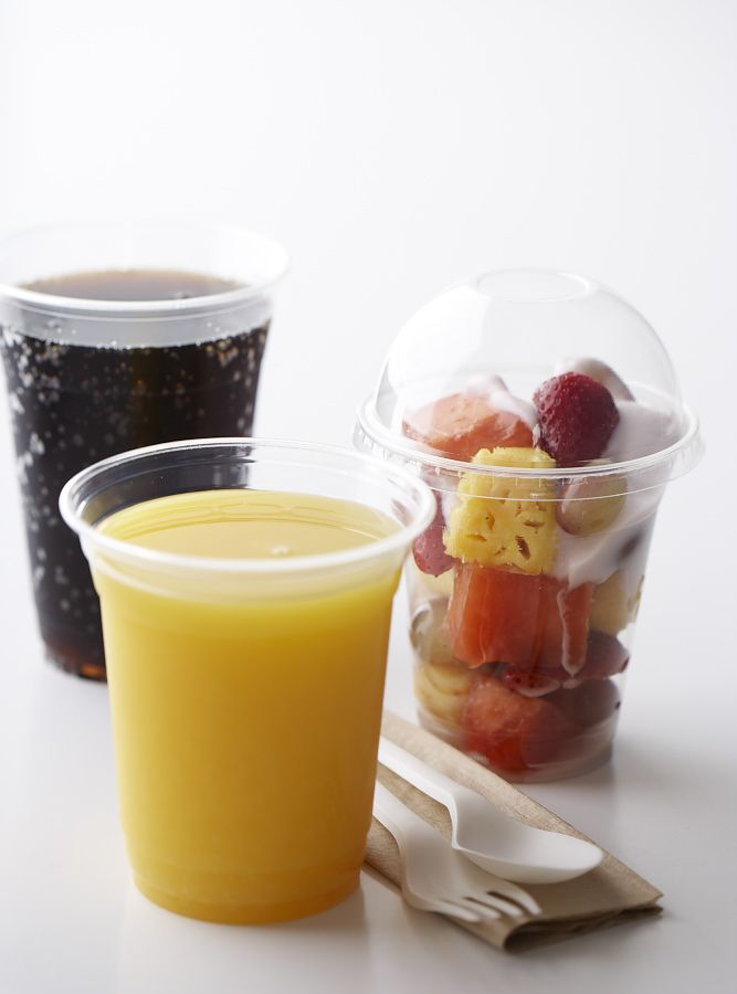 Clear PLA Cups and Lids - made from plants, not oil!
