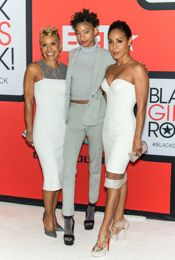 Jada Pinkett-Smith, her daughter Willow, and her mom, Adrienne — can you believe these genes?!