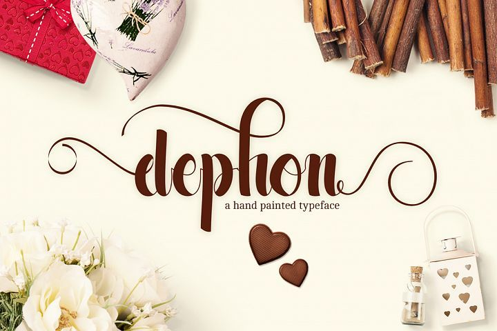 Dephon Script With Images Creative Fonts Free Graphic Design