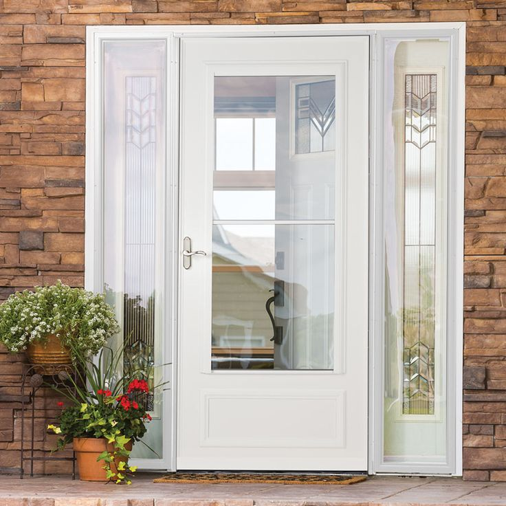 1000 images about curb appeal on pinterest spotlight for Front entry doors with storm door