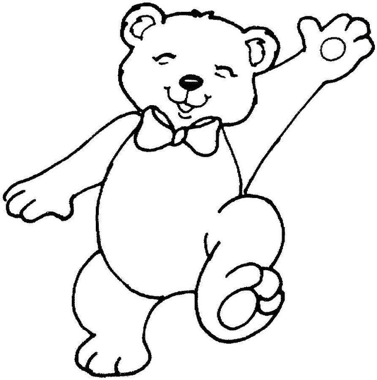 Teddy Bear Flag Hand Happy Coloring Pages 33