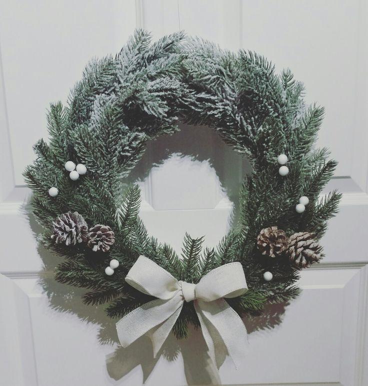 Snow / wreath /decoration / chritmas time / dekoracje /wianek / Bożenarodznie