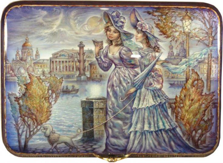 Лаковая миниатюра Сергея Князева: потрясающие работы в стиле федоскинской росписи: alionushka1
