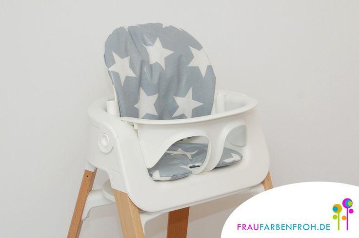 Hochstuhlkissen & Bezüge - WACHSTUCH Kissenset Sitzkissen f. den Stokke Steps - ein Designerstück von Frau-Farbenfroh bei DaWanda