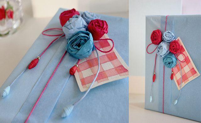 Paquetes de regalo. Inspiración by papersome, via Flickr