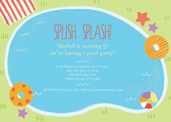14 best party invitations images on pinterest invitation design kids birthday invitations by oubly splish splash buy design here http filmwisefo
