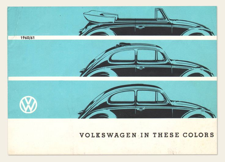 "1960/61 Volkswagen ""Colors"" Brochure | OldBrochures.com"
