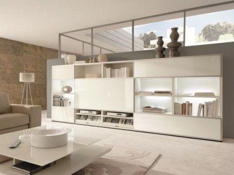 Die Wohnwand Mega-Design im modernen Design:  hohe Flexibilität ✓  zahlreiche Lack- & Holzfronten ✓  Beleuchtung ✓