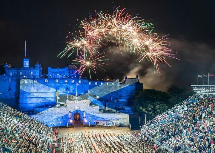 Edinburgh Military Tattoo held each August in Edinburgh Castle, Scotland