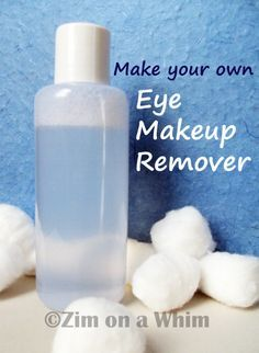 Homemade Eye Makeup Remover  - swap the baby oil with almond oil and the baby wash with castile soap.