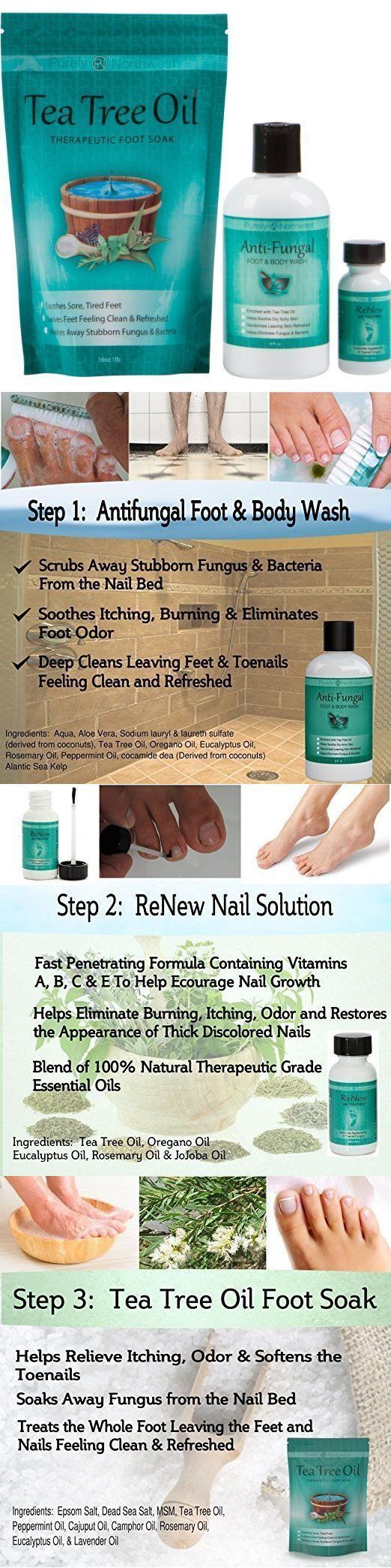 Foot Creams and Treatments: Tea Tree Oil Feet Toenail Fungus System Soothe Burning Itching Soap Foot Soak -> BUY IT NOW ONLY: $49.99 on eBay! #NailFungusYoungLiving