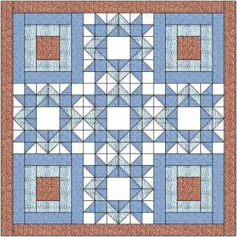 The diamond star quilt block makes a lovely quilt when paired with a courthouse steps block - both simple, traditional blocks, easy to make.