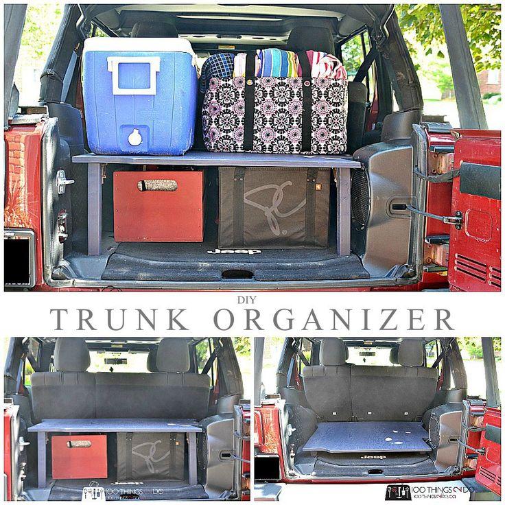 Trunk organizer DIY, Trunk organizer, trunk organization, trunk shelf, SUV trunk, DIY trunk storage