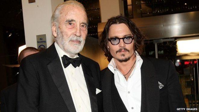 Cristopher Lee & Johnny Depp