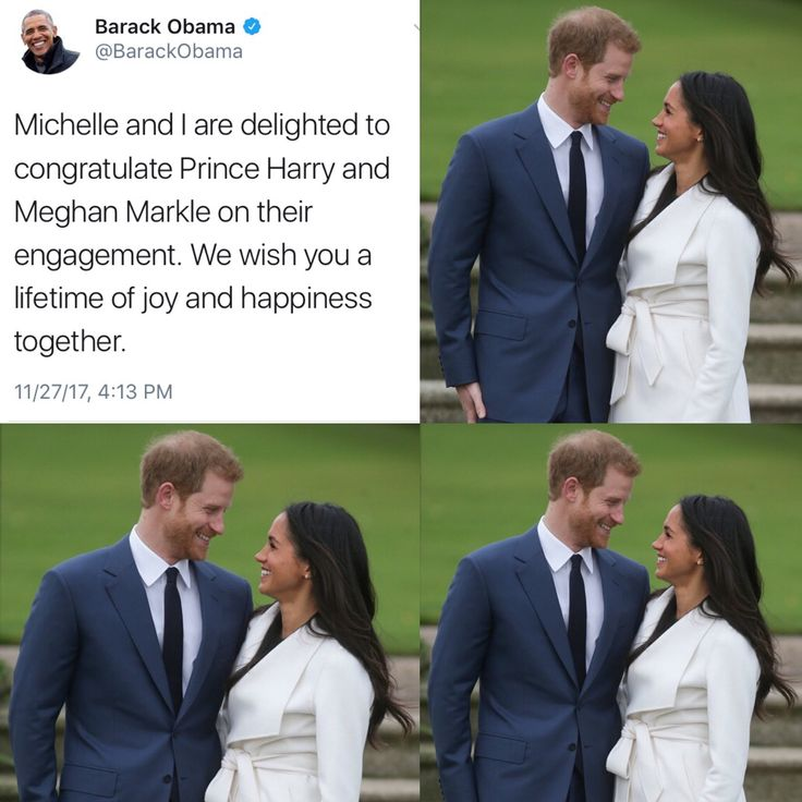 #44thPresident #BarackObama & #FirstLady #MichelleObama #Congratulated #PrinceHarry & His Fiancé #MeghanMarkle On Their Engagement Michelle and I are delighted to congratulate Prince Harry and Meghan Markle on their engagement. We wish you a lifetime of joy and happiness together. Prince Harry and Meghan Markle are going to the chapel and they are going to get married. The couple, who announced their engagement on Monday November 27, 2017