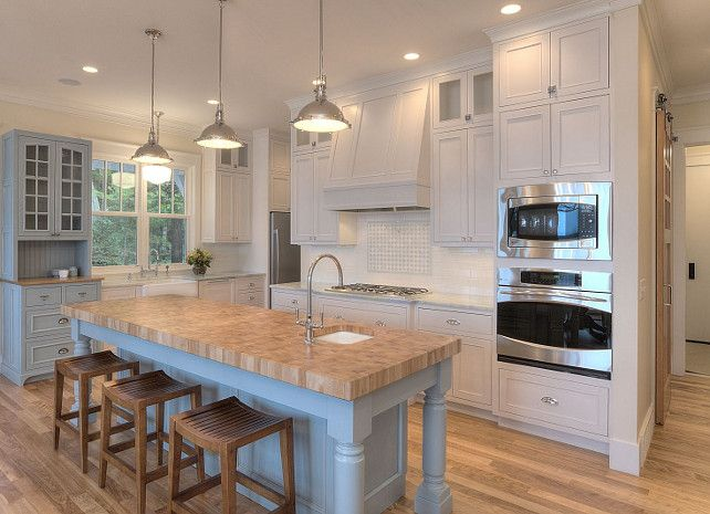 White Kitchen Turquoise Island  #Kitchen