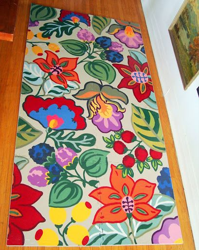 Hand Painted Kitchen Design Ideas ~ Best images about painted floor mats on pinterest