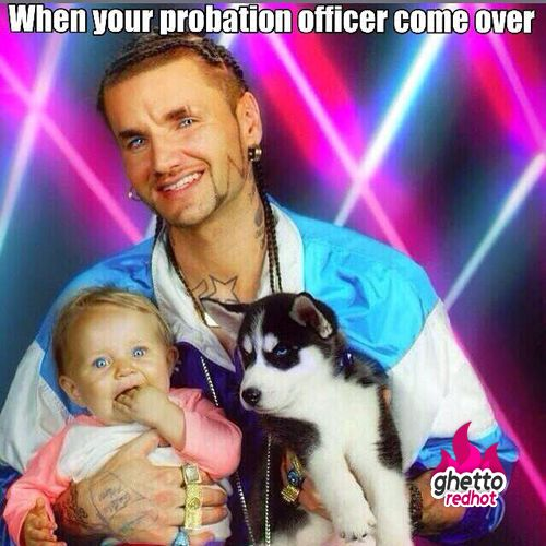 When Your Probation Officer Comes Over For A Home Visit!