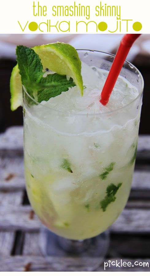 The Smashing Skinny Vodka Mojito