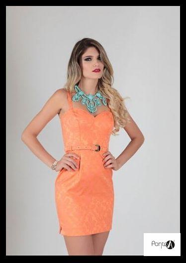 Vestido laranja magenta em jacquard o tecido mais #luxuoso da estacão!!.#lindíssimo.