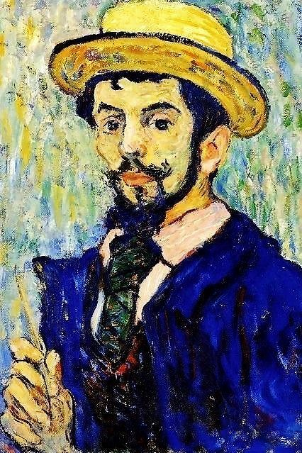 Self portrait  by Leon de Smet, (Belgian 1881-1966)