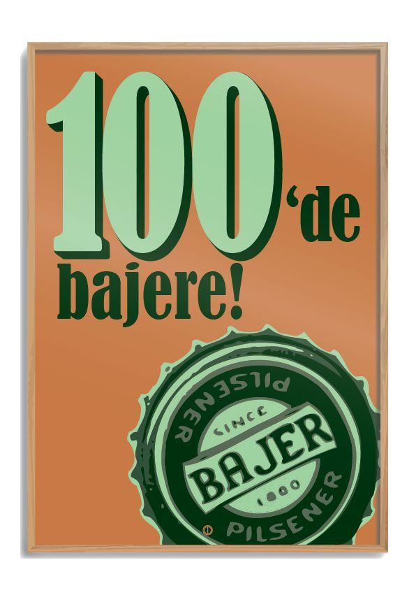 Plakat 100'de bajere Danish Dynamite (orange)