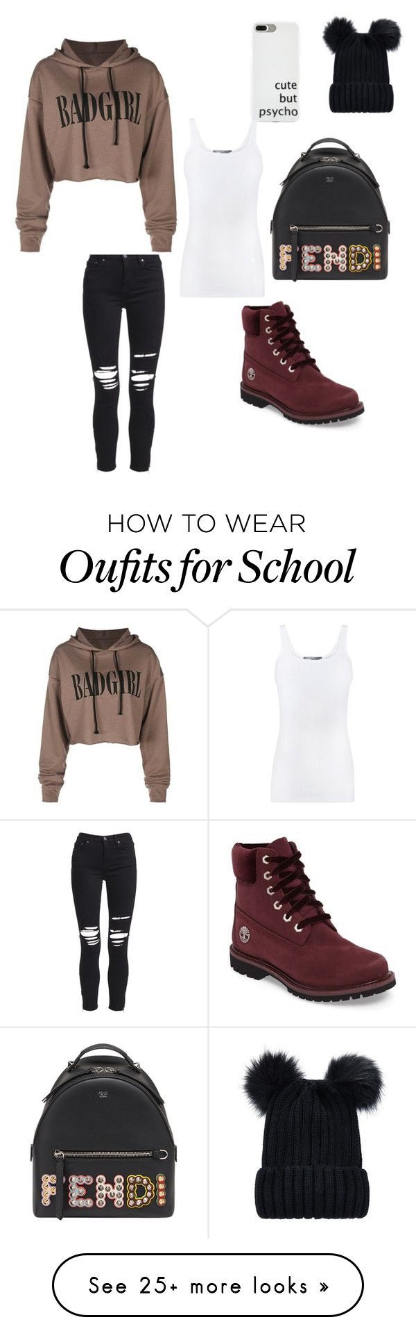 """""""School daze"""" by charlize-tillman on Polyvore featuring AMIRI, Fendi, Timberland and Vince"""