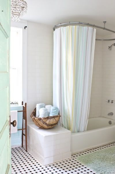 5 Simple Solutions To Makeover A Builder Bath. Bathroom CurtainsShower ...