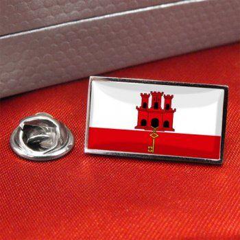 Gibraltar Flag Lapel Pin Badge