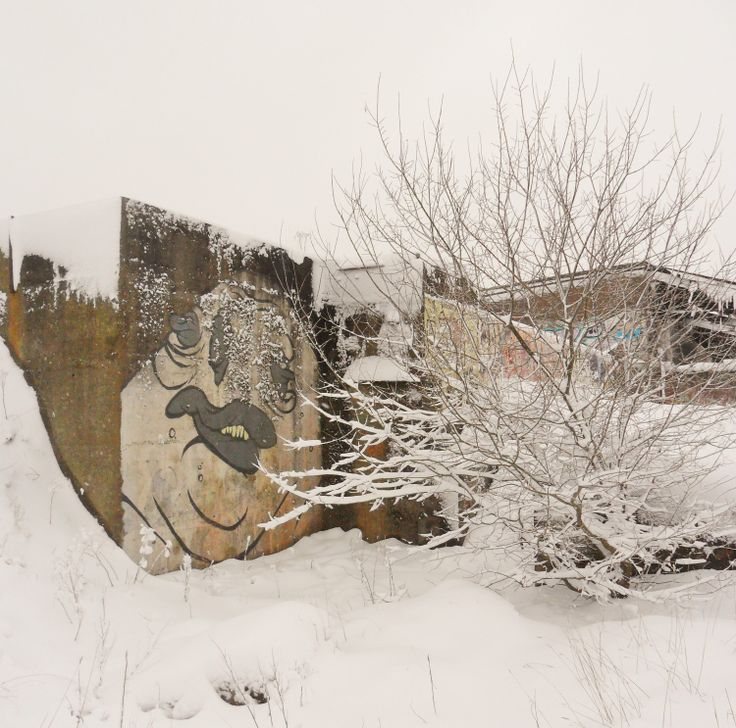 The Graffiti Monster at the deserted Brick Factory, Elland, West Yorkshire