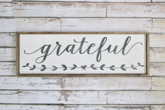 Grateful Wood Sign. Rustic Signs. Wooden by WilliamRaeDesigns