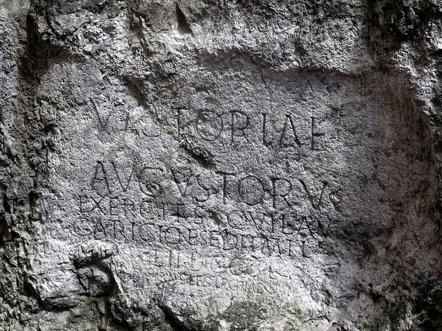 Roman Inscription from AD 179 - Trencin, Slovakia