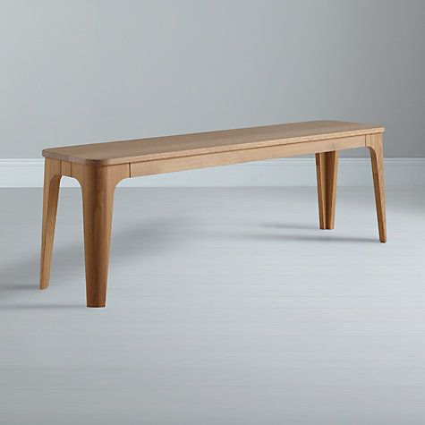 Buy Ebbe Gehl for John Lewis Mira 3-Seater Dining Bench, White And Oak Online at johnlewis.com £399