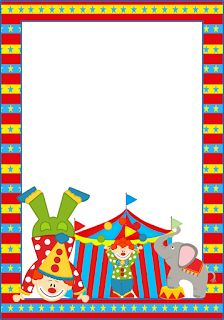 The Circus: Free Printable Frames, Invitations or Cards.
