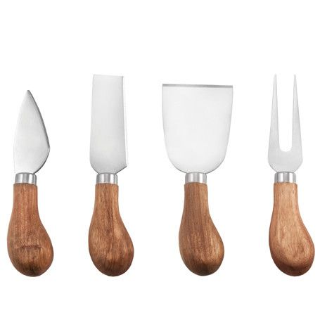 Rustic Farmhouse 4 Piece Gourmet Cheese Knives Set