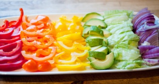 Who can resist a rainbow veggie tray? @Mary Barham you may be