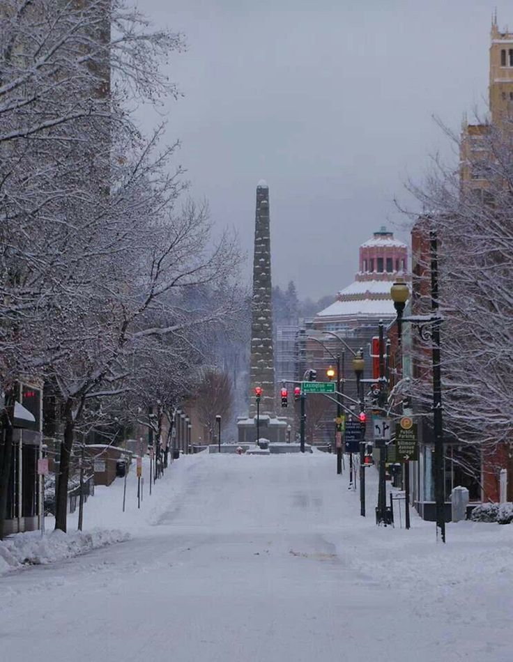 Patton Avenue After A Snowy Night In Downtown Asheville NC    Been There  And Done This. Had Dinner At The Lobster Trap And Watched The Snow Fall.
