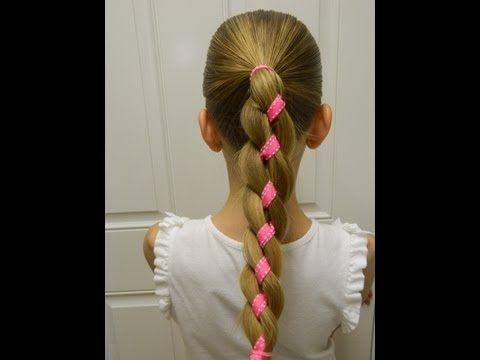 How to do a four strand braid / Bonita Hair Do - YouTube