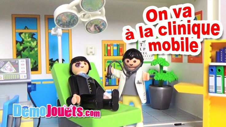nice Video Playmobil: Visite à l'HOPITAL TRANSPORTABLE ! Démo Jouets