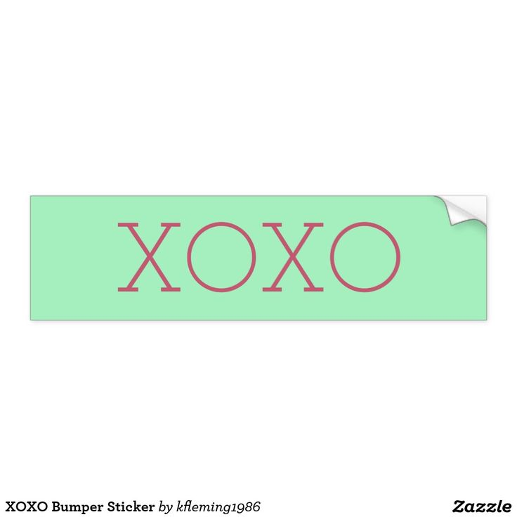 XOXO Bumper Sticker