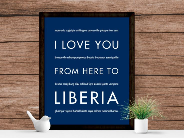 I Love You From Here To LIBERIA Art Print