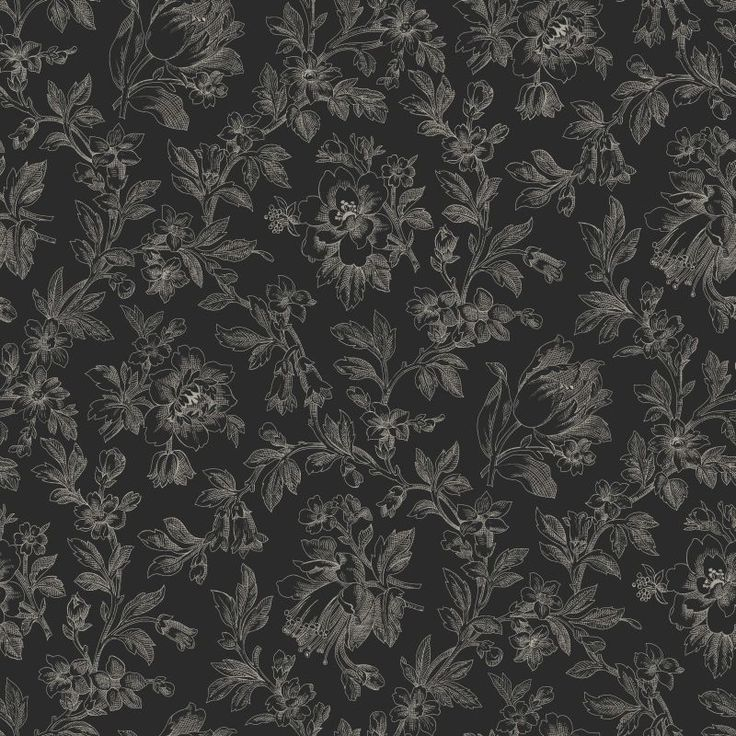 Esta tapetti Fine Flowers on tyylikäs tapetti ornamenttimaisella kukkakuosilla - Esta wallpaper Fine Flowers is a classy wallpaper with an ornamental flower pattern