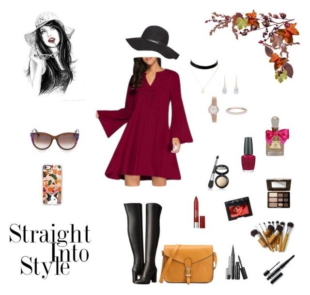 Straight into Style by rboowybe on Polyvore featuring MICHAEL Michael Kors, Irene Neuwirth, Raphaele Canot, FOSSIL, Thierry Lasry, Casetify, Smashbox, Dorothy Perkins, Marc Jacobs and Revlon