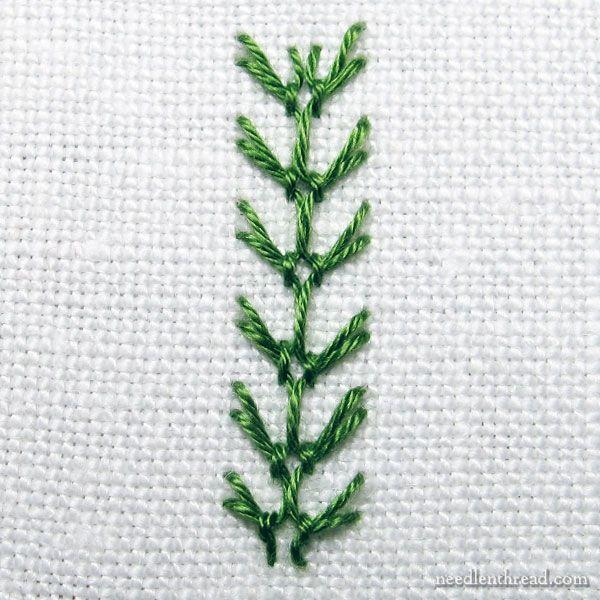 Tiny buds on a vine stitch fun tutorial