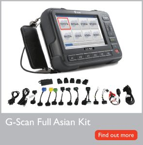 Asian vehicles G-Scan includes comprehensive and rapidly expanding data for a number of popular European vehicles. G-Scan has been named the best selling diagnostic tool in Japan from 2008 to 2012, which is by far and away the most demanding and critical market for an Asian diagnostic tool.