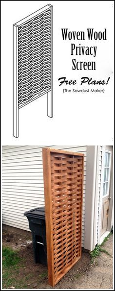 DIY Woven Wood Privacy Screen {The Sawdust Maker}                                                                                                                                                     More