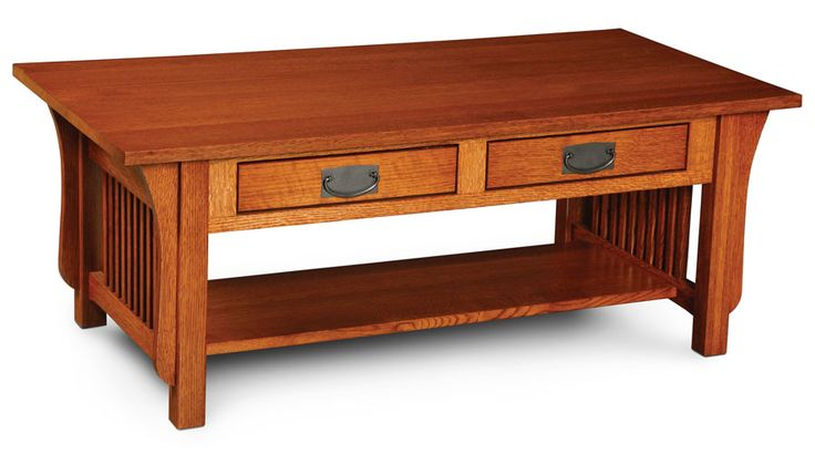 Prairie Mission 2 Drawer Coffee Table Handcrafted By Simply Amish Furniture Pinterest