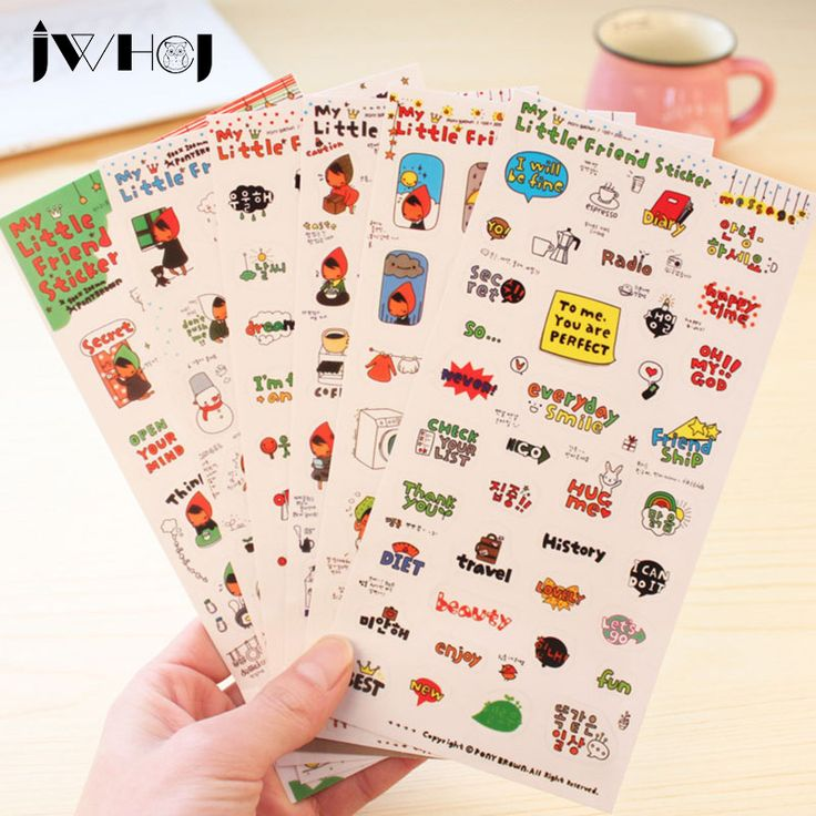 6 pcs/set Little red hat girl cartoon sticker stamp PVC sticker diy decorative sticker scrapbooking diary kawaii stationery